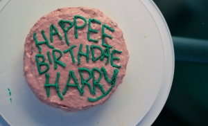 Harry Potter and JK Rowling Birthday cake
