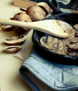 Sweet Potato Gnocchi with Mushroom Sauce